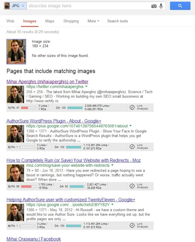 google image reverse search