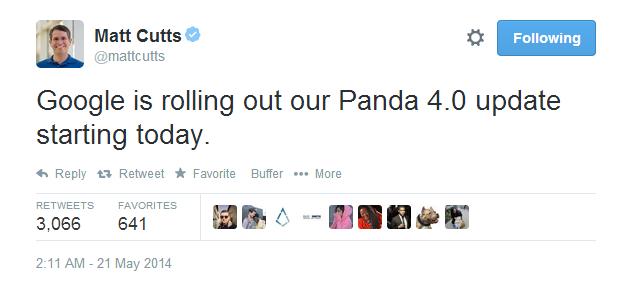 Matt Cutts: Panda 4.0